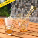 Wholesale Flavored Drinkware Coffe Coffee Stirrer Custom Glass Swizzle Stick