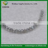 Labradorite bead,2.1mm round faceted natural labradorite bead, loose grey light stone jewelry