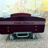 Homecare bed with wooden head & foot board