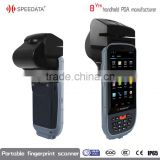 Bluetooth/ WiFi/ GPS/3G wireless portable fingerprint scanner with bar code RFID reader with 8 MP camera