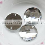 Find 16mm Crystal Silver Acrylic Flat Cut Round Garland Mirroed Bead Charm Idea