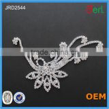 Hot!Unique Disign Silver 888Crystal Rhinestone Lace Embroidered Trimming in Bulk