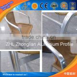 Hot! Owned aluminum anodizing equipment output cheap aluminum chairs leg, sliver chair tube anodized aluminum outdoor furniture