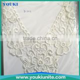 polyester material different size beaded lace motifs