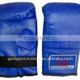 Elastic Grip Hand Crafted Mould Long Practices Training and Competition Blue Leather Kicking Boxing Bag Mitts