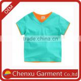 embroidery blanks boys t-shirt baby tshirt blank plain latest shirt designs for boys v-neck t-shirts wholesale kids wear