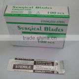 disposable sterile carbon steel surgical blade