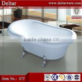 1.5m length royal acrylic clawfoot corner bathtub, Europe style tubs removable bathtub, custom size bathtubs