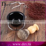Custom Logo Beard Brushes Pure Badger Hair Knots Men Shaving Set