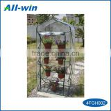 2016 Hot New Arrival and Most popular foldable four-layer mini greenhouse/ flower rack with PVC or 135g PE cover for plants