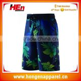 Hongen apparel 2017 mens Custom sublimation board shorts wholesale 4 way stretch board beach wear