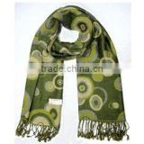 Fashion Polyester&Wool Jacquard Woven Scarves