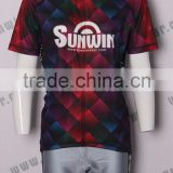 Hot selling fashionable men's cycling clothing 100%polyester sublimation short sleeve cycling Jersey
