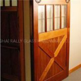 Black Country Style Barn Wood Steel Double Sliding Door Hardware Closet Set