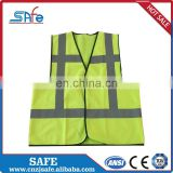 Breathable canvas safety reflective high visibility CE vest for running