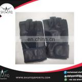 Weightlifting Fitness Gloves/ Black Goat Leather Gym Gloves