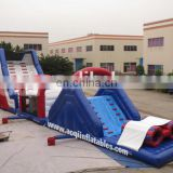 AOQI EN14960 certificate best price inflatable adult obstacle from professional manufacturer