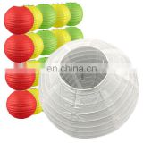 led lantern (support for custom pack) various colors Chinese round paper lantern with led light