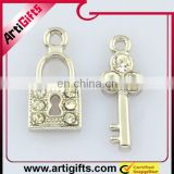 metal lock and key pendant