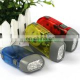 Hand press dynamo flashlight