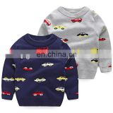 2019 Autumn and winter children's sweaters boys cartoon car knit tops