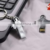 Special God Jesus Shape Mini Metal USB Flash Pendrive with Keychain Free LOGO and Pre-load Memory