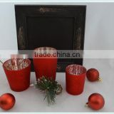 set of 3 glass candle holder wedding