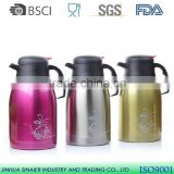 LFGB/EU double wall stainless steel vacuum thermos thermos tea pot