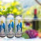 7 days church candle in glass jar