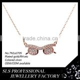 """glasses""shape pendant silver jewelry necklace new model necklace chain"
