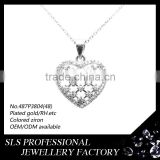 fancy pendant designs for girls in 925 sterling silver jewelry heart pendant necklace
