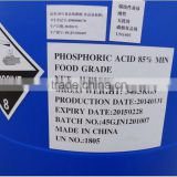 Factory EXW price phosphoric acid 85% for 25,000kgs order quantity