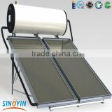 electrical heating compact flat plate solar water heater system with stainless steel solar water tank