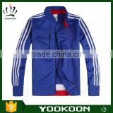Teenager soccer jacket sports uniform,plain soccer suits 100polyester embroidered bomber jacket Breathable Sports Jacket