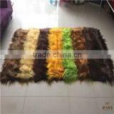LONG HAIR GOAT FUR PLATE BRIGHT COLOR FOR WOMAN GARMENT