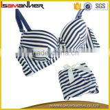 Sexy girl women stripe push up underwear hot and sexy arab model in bra and panties