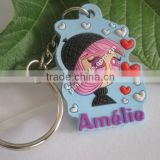 custom rubber car key shaped keyring