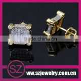 EAR0026 fashion gold plated cheap kids stud screw on backs earrings 2014 china new products