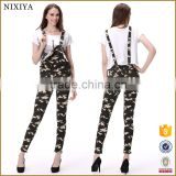 Camouflage jeans jeans overalls women bib pant                                                                         Quality Choice
