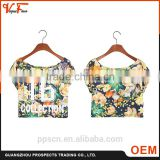 Custom OEM fashion design Wholesale petty multi colors short sleeve knit women crop tops