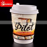 Custom made disposable restaurant cups with logo printed