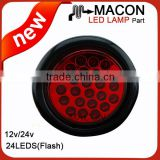 "2""2.5""4"" inch Round stop turn tail led truck lights ,12V LED automotive lamp"