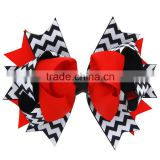 Chevron Bows,Holiday Bows Clips,Children wave Bow hairpin Girls handmade ornaments headdress