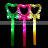 Colorful LED light up heart shaped Children's Kid's Battery Operated Toy Wand w/ Lights