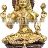Brass Goddess of Wealth laxmi 10""