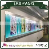LED ceiling panel light has Any color available with LED Crystal Light Frame uses include advertising or decoration