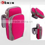 Shenzhen manufacturer for sale superior quality leather arm bag with credit/card/key chain holder