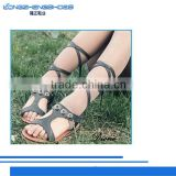Leather based fabric and embellishment design sandals