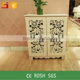 Cheap furniture custom made corner display chinese cabinet