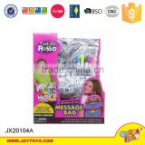 Watercolor washable DIY school bag girl for sale with 5 pens